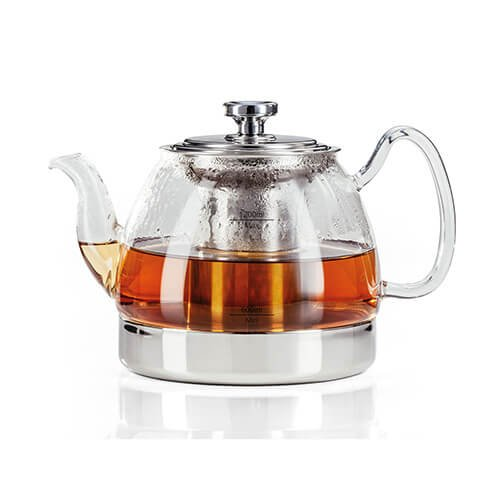 Judge Stove Top Glass Teapot, Silver, 1.2 Litre
