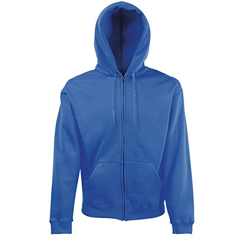 Fruit of the Loom Hooded Sweat-Jacket, Royal Blue, XXL