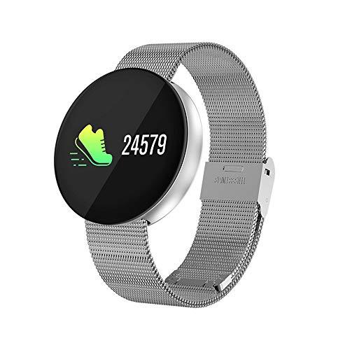 ZMH Runder Bildschirm Smart Watch Frauen Männer Pulsometer Blut Sauerstoff/Druck Sport Activity Tracker Reiten Schwimm Modus Smartwatch IP67,White