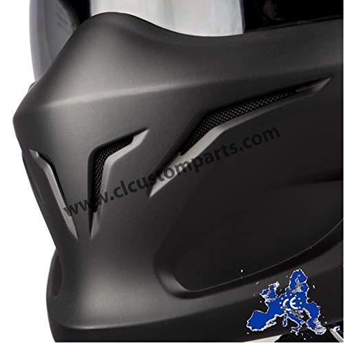 Scorpion Motorradhelm Exo Combat, Schwarz, Größe M - 5