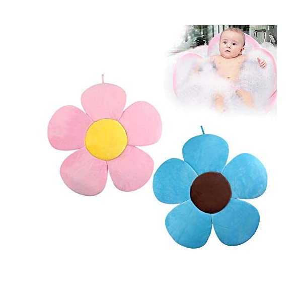 PER Flower Baby Bath Mat Bathtub Seats Portable Bath Tub Folding Pads Infant Bath Cushions