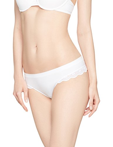 Iris & Lilly Damen Tanga Seamfree Lace Trim 3er Pack Mehrfarbig Medium (Spitzen-string Breiter Bund)