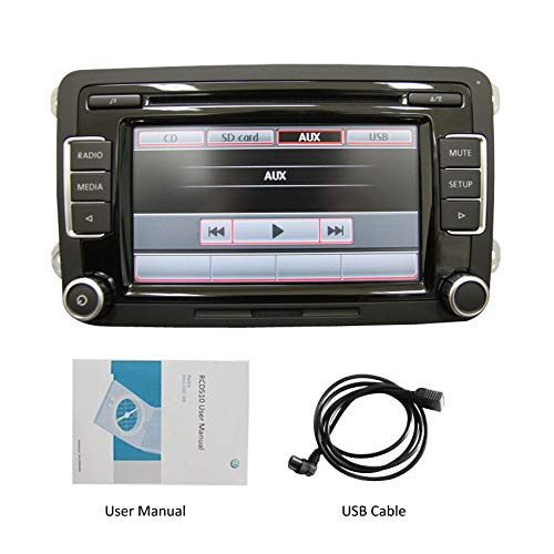 Radio estéreo para coche RCD510,6CD USB AUX SD Reproductor de MP3iPod FM/AM