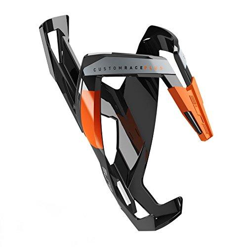 Elite Custom Race Plus - Fahrrad Trinkflaschenhalter Schwarz / Orange, glänzend