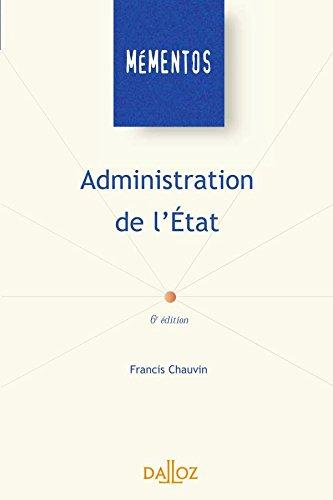 Administration de l'Etat par Chauvin