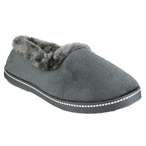 Mirak Dijon - Pantofole Invernali Tinta Unita - Donna Prugna
