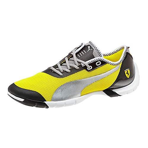 Puma Future Cat SuperLT Evo Ferrari Jungen Kids Schuhe Sneakers (38.5 EU, Vibrant Yellow/Silver/Black)