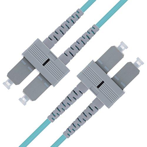 125-duplex-faser-jumper-kabel (LWL Patchkabel SC SC Multimode Duplex Glasfaser - 5 m SC/SC - 50/125 OM3 Faser 10G - Türkis - (LSZH) - Patchkabel von Beyondtech - PureOptics Series)