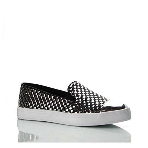 GUESS Slip On Pelle Stampa Metallo Punta Tonda FLKLA1LEA12 (36)