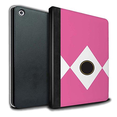 Stuff4® PU-Leder Hülle/Case/Brieftasche für Apple iPad 9.7 (2017) Tablet/Rosa Muster/Fernseher Comic Ranger Kollektion