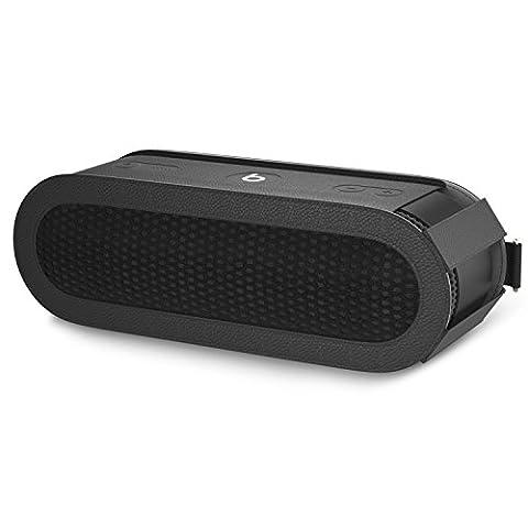 MoKo Beats Pill+ Lautsprecher Schutzbox Schutzhülle, Premium PU Leder Hülle Tragetasche Reisetasche für Beats by Dr. Dre Pill 2 Bluetooth Wireless Lautsprecher, mit Handschlaufe / Karabinerhaken, Schwarz