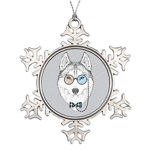 wendana Fashion Portrait of Husky Zinn, Weihnachtsschmuck, Andenken, Feiertagsdekoration, Weihnachtsbaum-Ornament