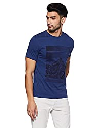 French Connection Mens Slim Fit T-Shirt (56IKE_Twilight Blue_M)