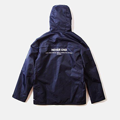 Honghu Loisir Jacket Blouson Homme Bleu