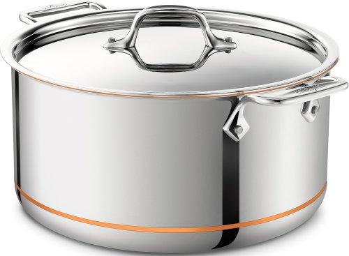 All-Clad 6508SS EURO Copper-Core Fleisch und Gemüsetopf mit Deckel, Topf 7.6 L, 26.7 cm (All Clad Töpfe)
