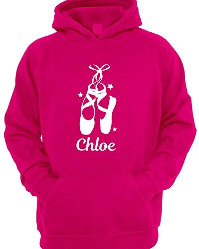 Girls Personalised Ballet Shoes Dance Hoodie