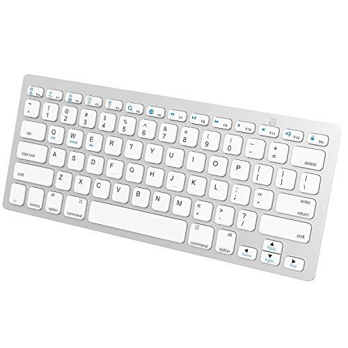 N4U Online® Slim Wireless Bluetooth Tastatur für