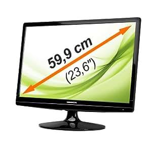 "MEDION MD 20160 LED TFT Monitor Full HD 60cm / 23,6"" HDMI ° DVI ° VGA ° 2ms ° integrierte Lautsprecher ° 16:9"
