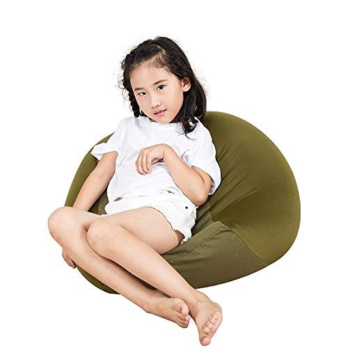 KSUNGB Sitzsack Kreativ Kinder Faules Sofa Einfarbig Mini Ergonomie Nähen Irgendeine Form 0,5 mm EPS-Partikel Füllen Waschbar Kein Formaldehyd Waschbar Segeltuch 50 * 50 * 35 cm, Dark Green