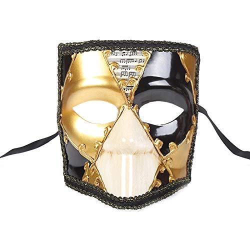ZPYHJS Maske venezianisch,Maskerade Maske Herren Damen Vintage Halloween Christmas Party Maske @ - Christmas Parade Kostüm