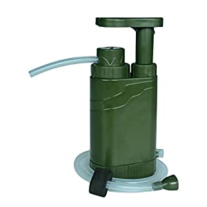 41m%2BQX4IuuL. SS300  - Clear Water Outdoor Water Pump Filter, Multifunctional Outdoor Water Purifier, Personal Portable Water Filter For Outdoors, Camping, Hiking, Survival Kit, Water Emergency Kit Features Compass