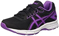 Asics Unisex Kids' Gel-Galaxy 9 Gs Low-Top Sneakers, Black (Black/Orchid/White), 5 UK