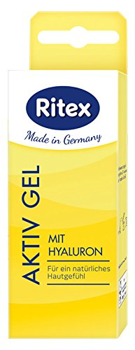 Ritex AKTIV GEL, Intensiv Gleitgel mit Hyaluron, Wasserbasiert, 100 ml (2 x 50 ml), Made in Germany