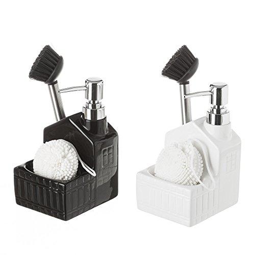 Dispensador cocina 2/c ceramica 12x9,8x18,5 cm (Surtido a elegir 1, indíquenos su preferencia tras hacer el pedido, si no se enviará cualquiera de los modelos dependiendo de la disponibilidad)