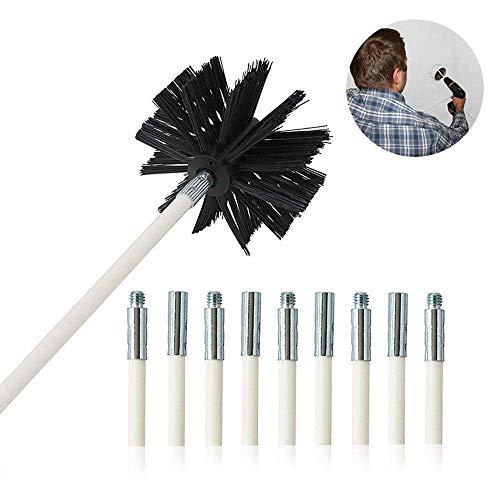 Freyamall Kit de Limpieza de Cepillo para Conducto de Secadora, Tubo de Secado Flexible, Ventilación...