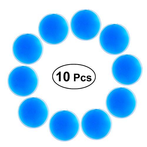 Gefrorene Gel-packs (SUPVOX 10 stücke Wiederverwendbare Runde Gel Packs Hot Cold Packs für augenverletzungen Stillen Schmerzlinderung Therapie Packs 11 cm (Blau))