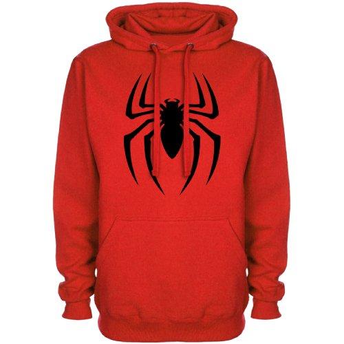 Refugeek Tees - Herren Superhero Spider Symbol Sweat à Capuche - Medium - Red