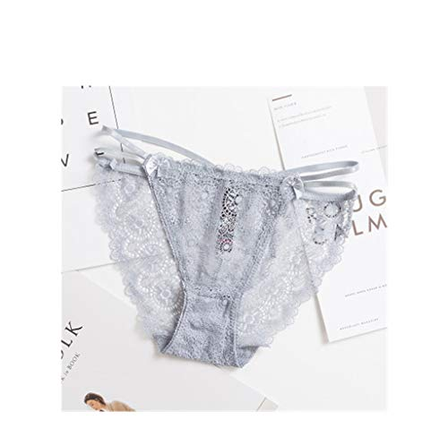 Träger Laufrad (Sexy Triangel Bottoms Träger transparent niedrige Taille Damen Höschen grau M (1,8-2,1 Fuß)(3 Stück))