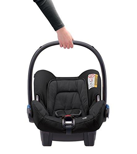 Maxi-Cosi Citi Babyschale (in Kombination mit allen Maxi-Cosi und Quinny-Kinderwagen und Buggys flexibel einsetzbar, Leichtgewicht und für das Flugzeug zugelassen, Gruppe 0+, bis 13 kg) black raven