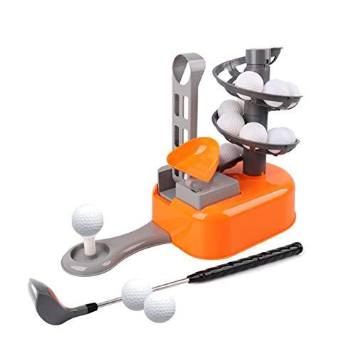 AIMERKUP Golfball Maschine Spielzeug Kinder Indoor Outdoor Golf Serve T Trainer Trainingsstange Sport Set (Kleinkinder Für Halloween Gesunde)