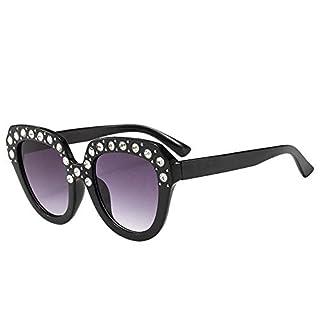 REALIKE Kinder Sonnenbrille Funkelnd Diamant Katzenauge Transparent Sunglasses Mode Schwarz Rund Farben Brille Frauen Cat Eye Travel Eyewear