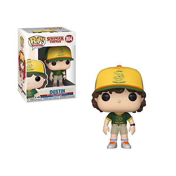 Funko Pop Dustin con gorra de campamento (Stranger Things – Tercera temporada 804) Funko Pop Stranger Things