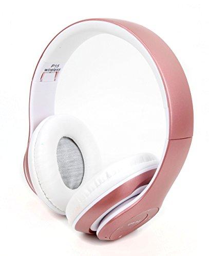 lappbare Rosa Bluetooth Stereo Kopfhörer für Aldi Medion Akoya E1240T / E1239T / P3403 Tablet-PCs ()