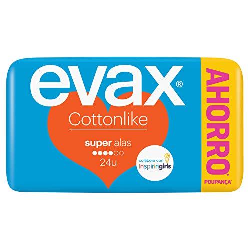 Evax Cottonlike Super Compresas Alas - 24 Unidades