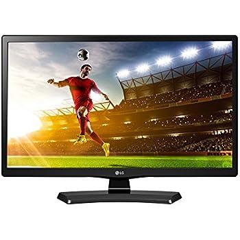 "Monitor TV 24"" HD 24 Pollici Digitale Terrestre DVB-T2 e Satellitare DVB-S2 Black Nero"