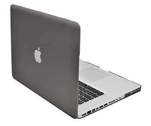 Lilware Smooth Touch Ultra Fin Mat Coque Rigide en Plastique pour MacBook Pro 39,1cm 2ND Gen A1286–Semi-Transparent 15.4-inch Grey/Semi-Transparent