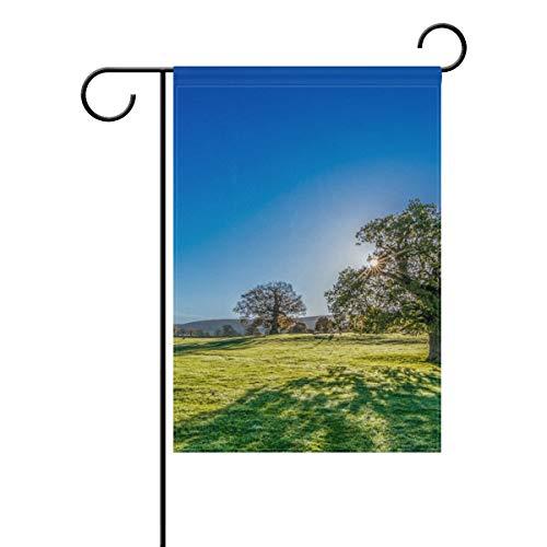 onne Grasland Baum 30,5 x 45,7 cm Banner doppelseitig für Rasen Hof, Außendekoration, Polyester, Image 714, 12x18(in) ()