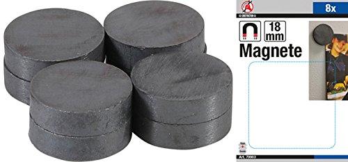 Force Homme 79903 Jeu de magnétique – Céramique – Ø 18 mm – 8 pièces