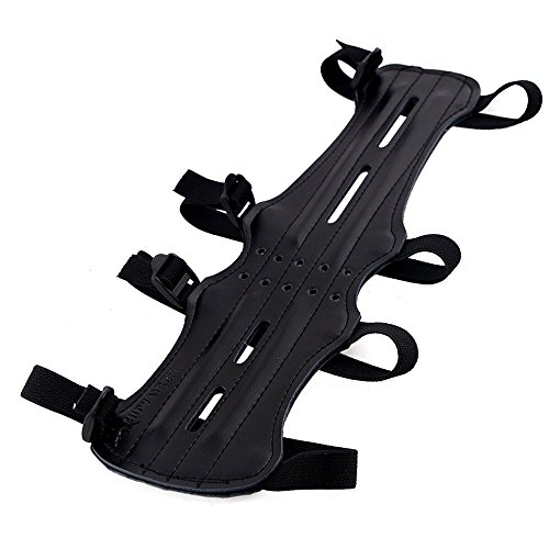 myarmor-118-ultra-light-weight-pu-leather-arm-guard-adjustable-elastic-4-straps-shooting-archery-arm