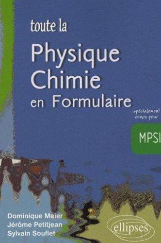 Toute La Physique Formulaire Aide-Memoire De Physique Chimie Mpsi