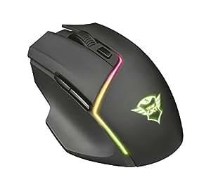 Trust GXT 161 Disan Kabellose Gaming-Maus (3000 DPI, RGB-Beleuchtung, wireless) schwarz
