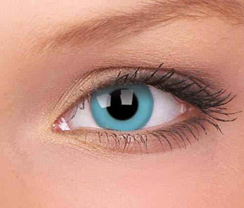 ColourVUE Crazy Lens Sky Blue Daily Disposable 14 mm Contact Lens