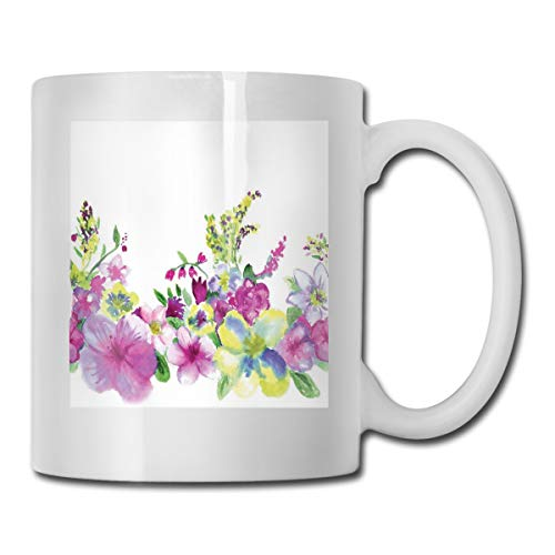 Jolly2T Funny Ceramic Novelty Coffee Mug 11oz,Hybrid Garden Floret Composition with Heathers and Stocks Art,Unisex Who Tea Mugs Coffee Cups,Suitable for Office and Home 4 Quart Stock Pot