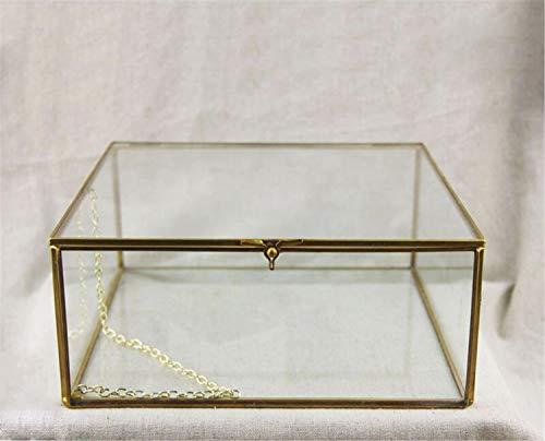 NUO-Z Schließen Sie Glas-geometrische Terrarium-Hochzeits-Mittelstück-Tischplatte-saftige Luftpflanzen-Pflanzer-Fensterbrett-Moosfarn-Blumentopf-kleine Haustiere-Kasten-Behälter mit Deckel