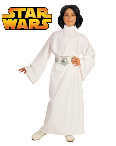 Star Wars Deluxe Kinder Kostüm Prinzessin Leia Größe L 8 bis 10 (Luke Leia Prinzessin Kostüm Skywalker Und)