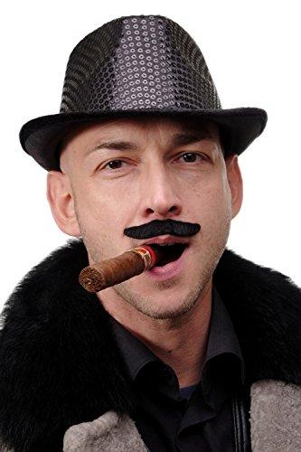 DRESS ME UP Karneval Fasching Halloween falscher Bart Schnauzbart schwarz Magier Zauberer Zirkusdirektor MM-52